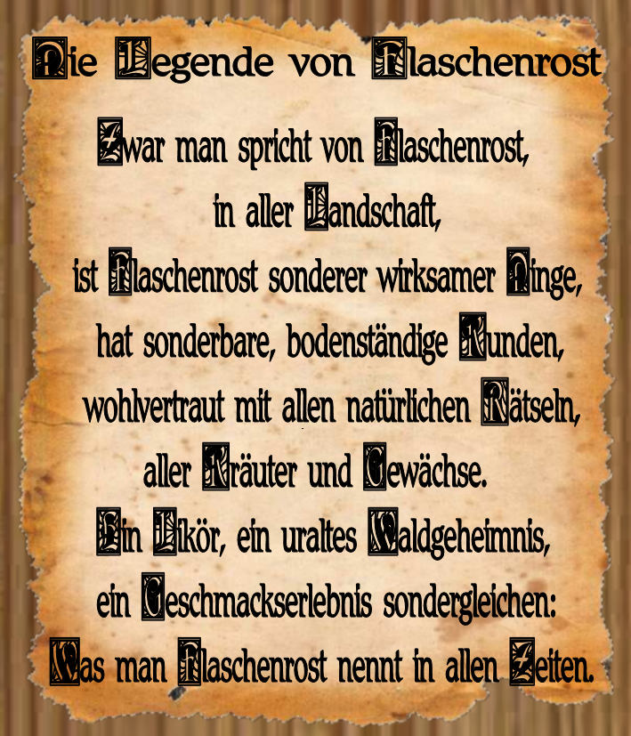 Legende Flaschenrost website